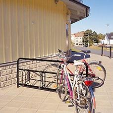 Cykelställ Gaspra 8 platser svart - Cykelställ
