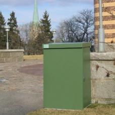 Säckhållare med grön plastisol  - Papperskorgar
