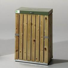 Papperskorgar - Säckhållare med tryckimpregnerat trä