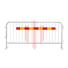 25 st Kravallstaket med reflex med plattfot  - Stängsel