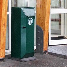 Papperskorgar - Papperskorg San Set 125L Grön