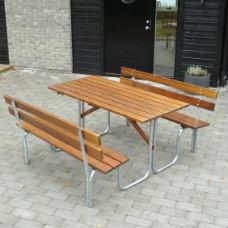 Picknickbord - Steel Picknickbord 150 cm 6 pers Brun