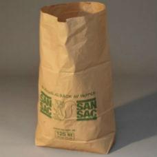 Sopsäckar av våtstarkt kraftpapper enbladig 125L 50 st - Miljö & Avfallshantering