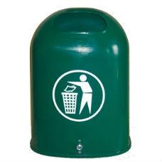 Papperskorg Otto i grön plast 42L  -