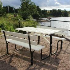 Picknickbord - Steel Picknickbord 150 cm 6 pers Vit