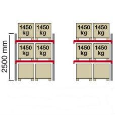 Pallställ City 4 x 1450 kg -