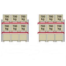 Pallställ City 6 x 700 kg -