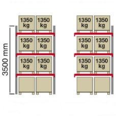 Pallställ City 6 x 1350 kg -