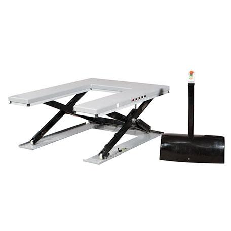 U-format Lågprofillyftbord, 1500 kg, 1600 x 1180 mm -