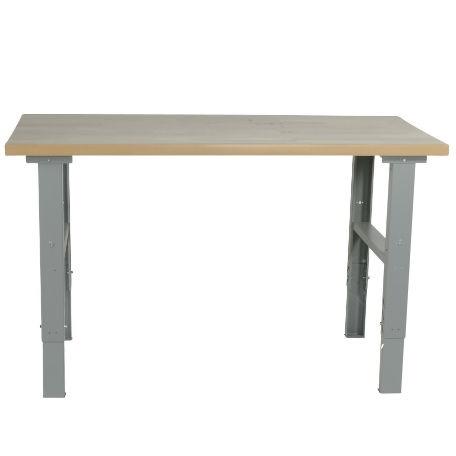 Justerbart arbetsbord med stålskiva 1600 -2000 mm - kapacitet 500 kg - Arbetsbord