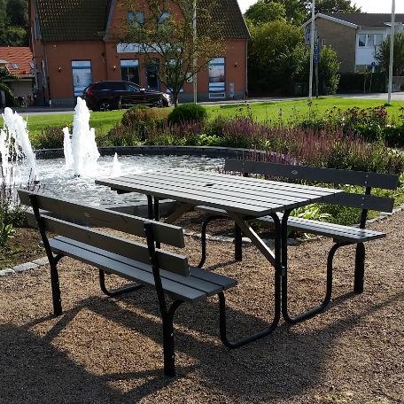 Picknickbord - Steel Picknickbord 150 cm 6 pers grå